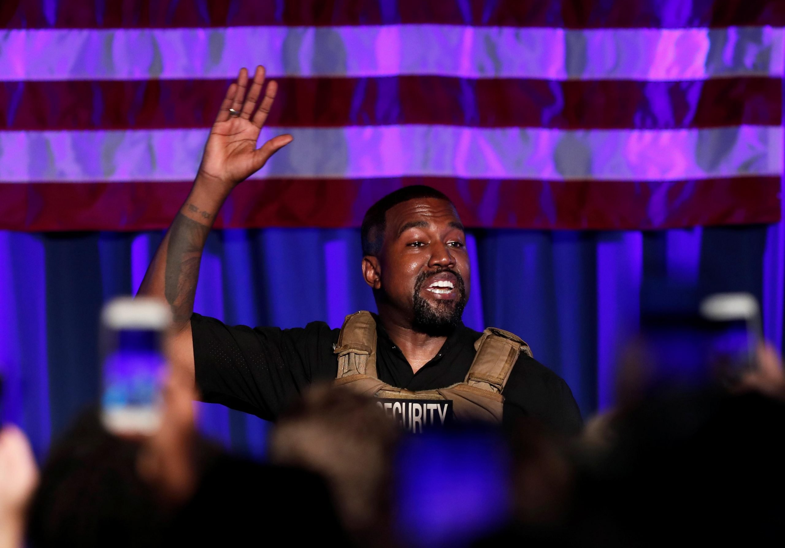 Kanye West Attempts to Trademark Phrase 'God Save America' for Presidential Campaign